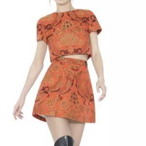 Alice Olivia ORANGE SARINA top 2 LORAN skirt 0 Set